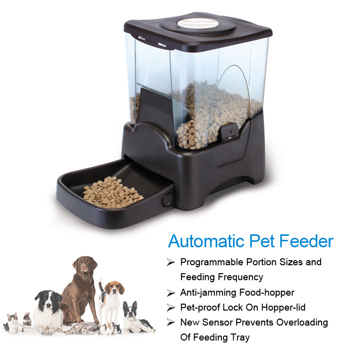 Durable ABS Material Large Storage Space 4-Meal Pet Food Feeder Voice Recordable Programmable Automatic Feeder(China (Mainland))