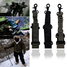 New Tactical 1 Single Point Adjustable Bungee Rifle Gun Sling System Strap Hook hot selling