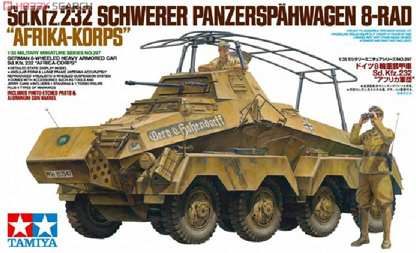 TAMIYA 35297 1:35 World War II Germany Sd.kfz.232 eight wheel heavy armored vehicle model<br><br>Aliexpress