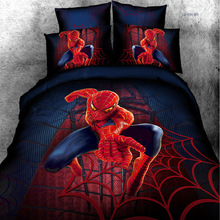2014 new cotton Four set fashion creative personality 3D Spiderman bedding factory direct free shipping(China (Mainland))