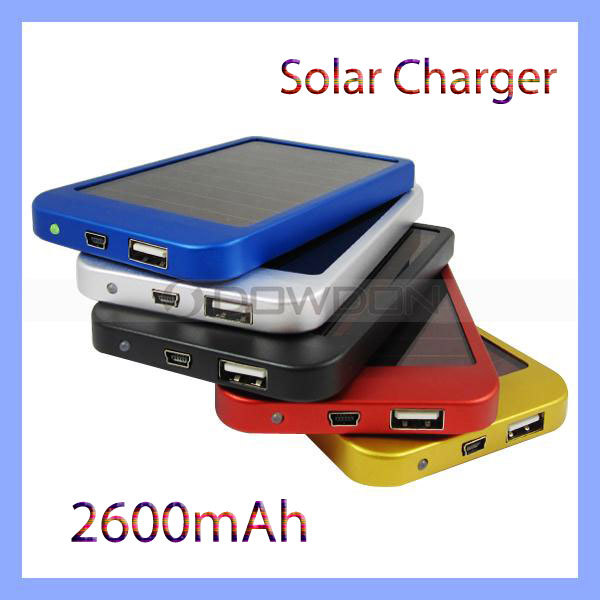 Solar Mobile Charger Cell Phone Charger Portable Solar Charger 2600mAh Emergency External Battery(China (Mainland))