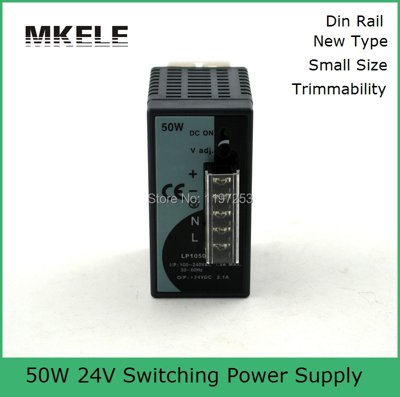 low price 50w 24v switching power supply LP-50W-24 1A 24vdc output din rail power supply manufacturer direct sale(China (Mainland))