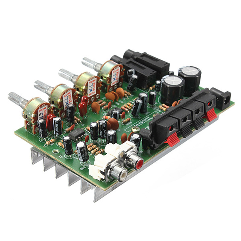 New Electronic Circuit Board 12V 60W Hi Fi Stereo Digital Audio Power Amplifier Volume Tone Control Board Kit 9cm x 13cm(China (Mainland))