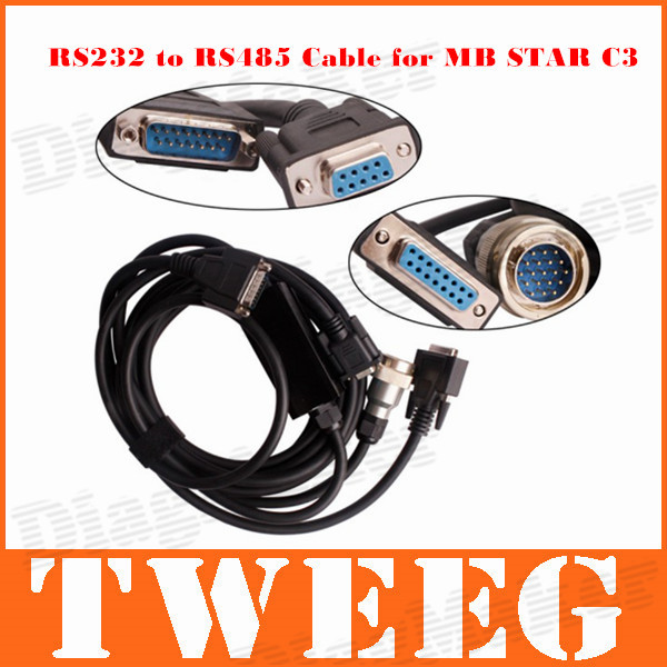 2014 MB Mercedes Benz Cable Connectors RS232 to RS485 Cable for MB Star C3 with free shiping(China (Mainland))