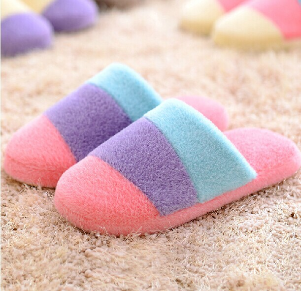 Lovers shoes autumn and winter cotton-padded velvet home floor slippers men and women slippers soft indoor free shipping<br><br>Aliexpress