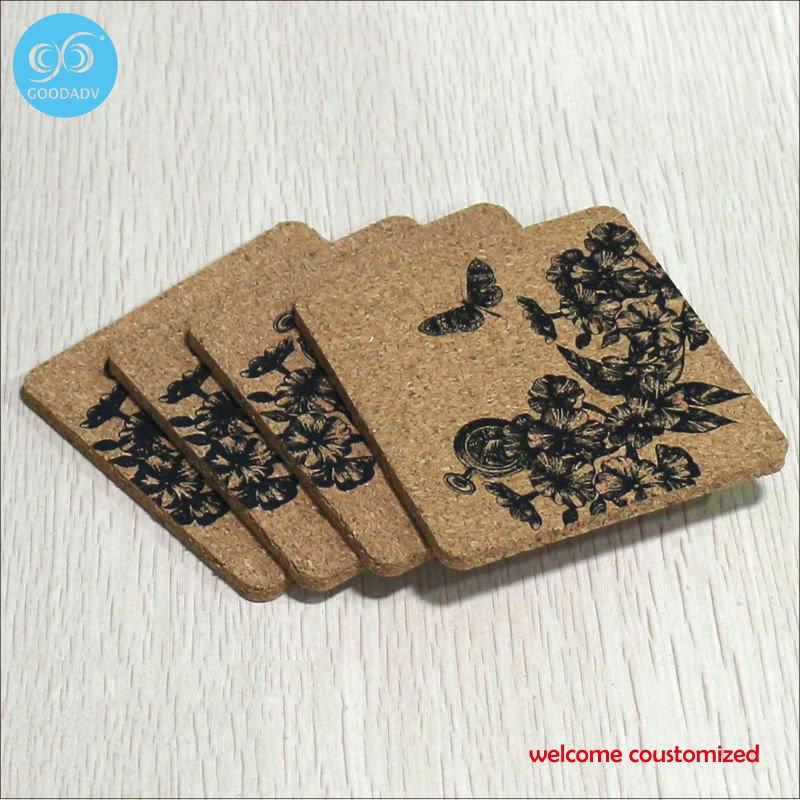 Hot sale!!!Cup Mat 30pcs/lot Free shipping Coaster Placemat Pub Decoration Heat Resistant Square Drinks Mats(China (Mainland))