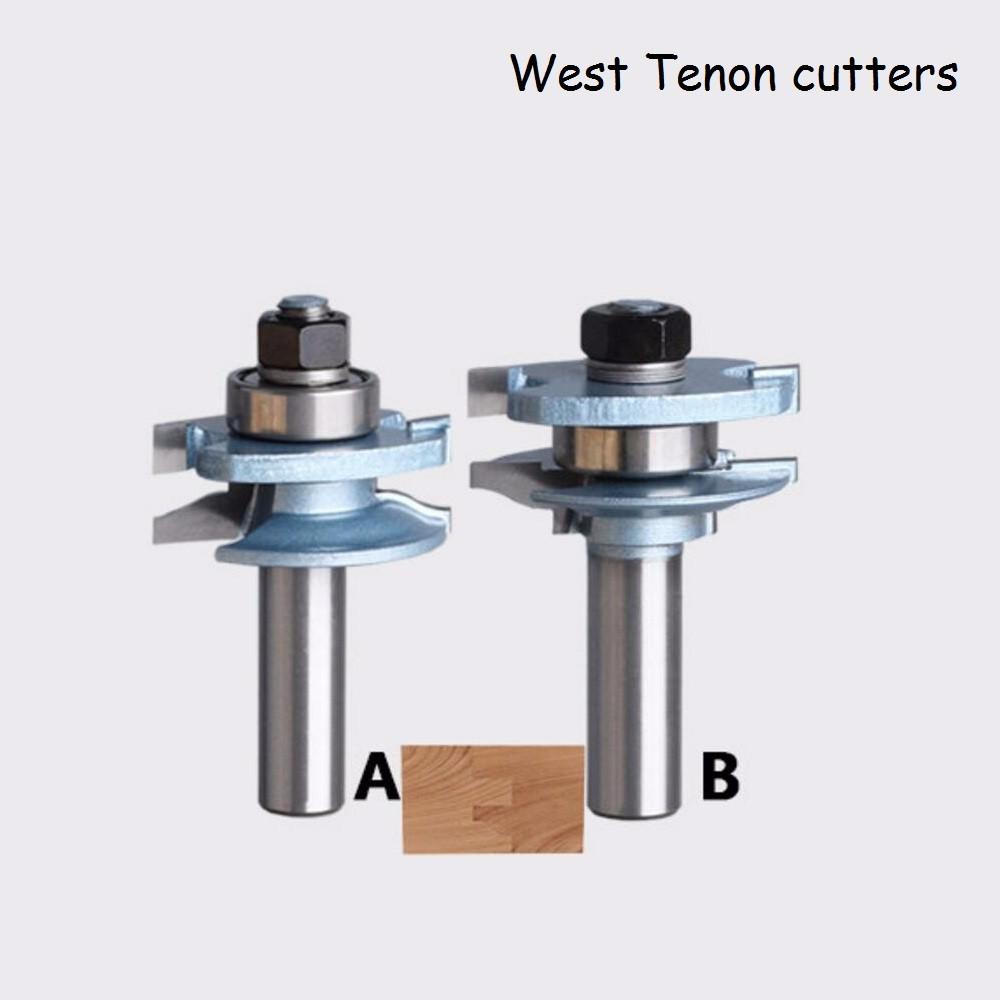Buy SHINA 2PCS Concave Stile and Rail Bits Nail Tenon Joints Door Knife Kitchen Cabinet Milling cutter -2pcs/set cheap