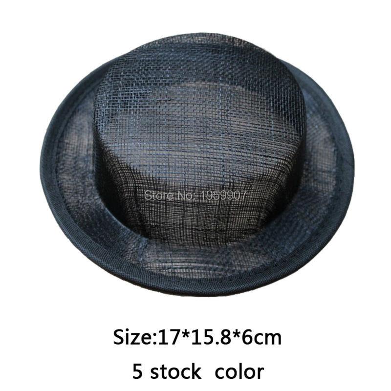 20pcs/lot Sinamay Top Hat Mini Top Hat Base #5Color(China (Mainland))