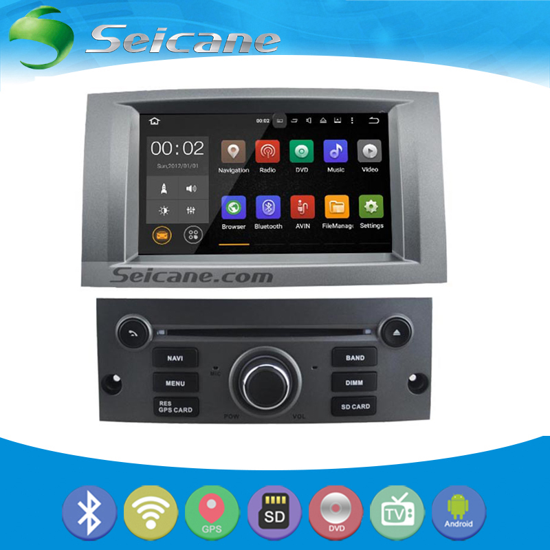 seicane oem android 5 1 1 radio for 2004 2010 peugeot 407 gps navigation system with wifi backup. Black Bedroom Furniture Sets. Home Design Ideas