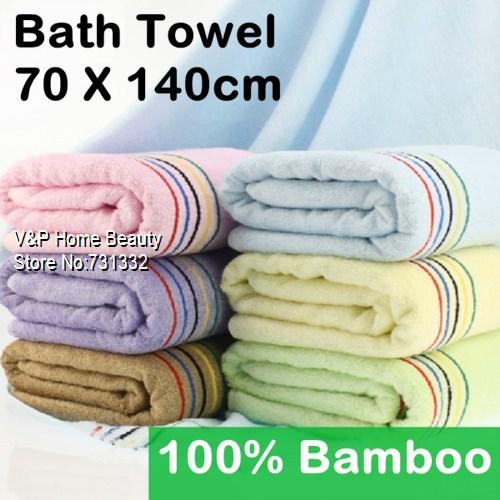 2 pcs/Lot Bamboo Fiber Bath Towel Beautician Toalha Rainbow Adults Kids Spa Beach towel clearance Bulk bathroom Terry 8083(China (Mainland))