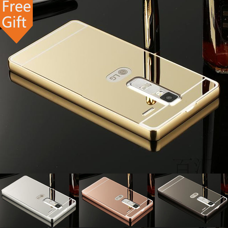Luxury Gold Plating Armor Aluminum Metal Frame + Mirror Acrylic Case Back Cover For LG Class LG Zero H740 F620 H650 Hot sale(China (Mainland))