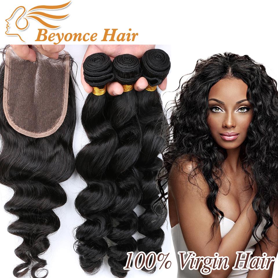 Гаджет  Brazilian Virgin Hair With Closure Loose Wave 3Bundles With Closure Cheap Brazilian Loose Wave With 1Pc Lace Closure Human Hair None Волосы и аксессуары
