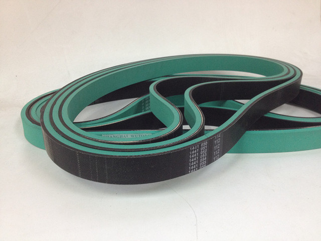 machine belts flat