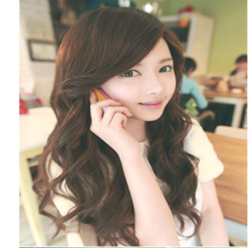 long curly wavy wig sexy women New Fashion Long Dark Brown Curly Wavy Womens Hair Full Wigs Cosplay Party fluffy - Uri's Bag Factory store