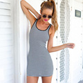 Fashion Women Sexy Striped Vest Beach Dress Bodycon Evening Party Sleeveless Casual Clothes New Arrival Size