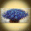 Wall Painting Flower Hand Painted palette knife 3D texture flower Hand Painted Canvas Acrylic Wall Art