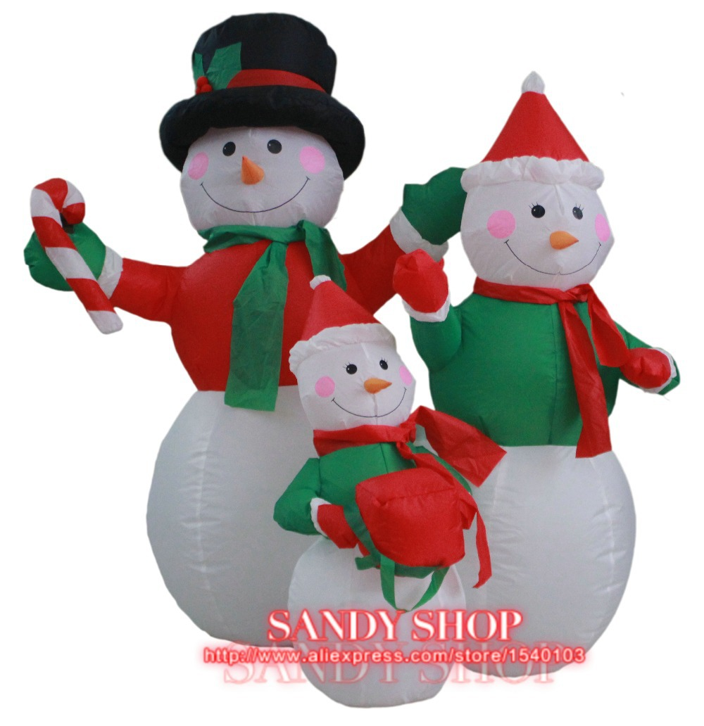 1.2 m inflatable snowman family of three,inflatable christmas decoration(China (Mainland))