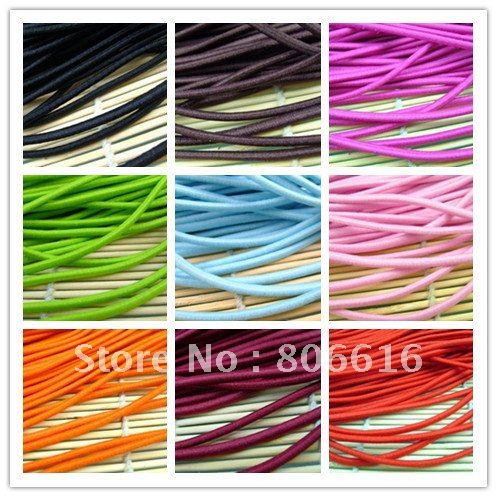 3.5MM/W 45M (Mixed 9 Colors) Round Elastic Band Stretch Rope Bungee Cord Strings DIY Hair Accessories(China (Mainland))