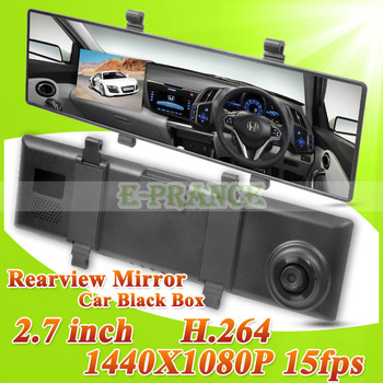 [Cheap] DV400 1080P Rearview Mirror DVR + H.264 +140 Degree Wide Angle+2.7 inch LCD Screen+G-sensor+Motion Detection