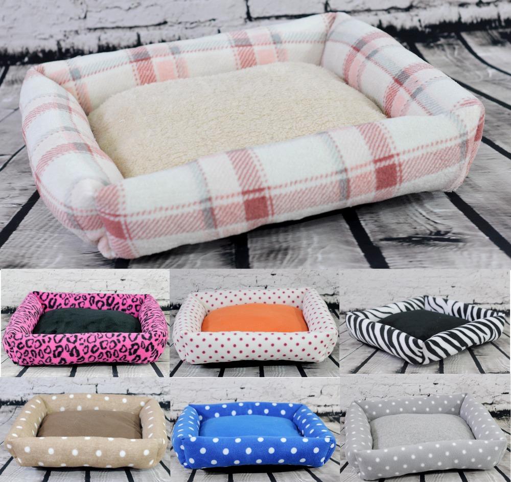 Hot Small plush pet cat dog rabbit House sofa bed Kennel winter Soft Fleece warm indoor Dog puppy bed mat nest 40*40*10cm