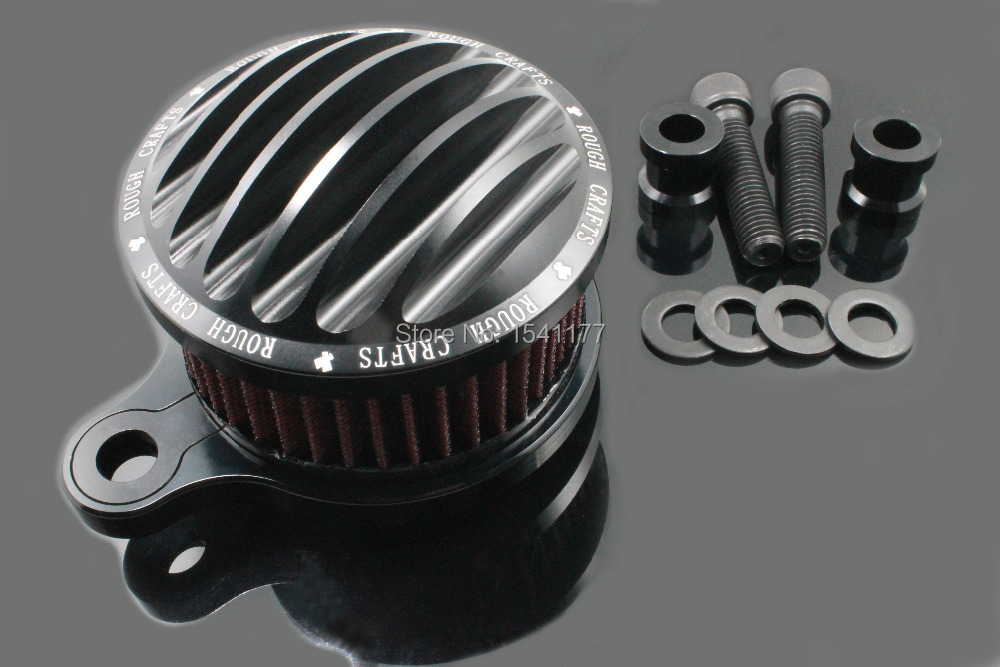 RBlack Motorcycle CNC Crafts Air Cleaner Intake Filter for 2004-2014 Harley Sportster XL 883 1200 Forty Eight Roadster Custom(China (Mainland))