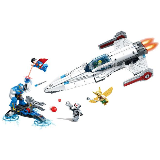 SY Super Heroes Avengers 592Pcs IGOR Hawkman Superman Plane Fighter Building Blocks MiniFigure Toys Legoeddis<br><br>Aliexpress