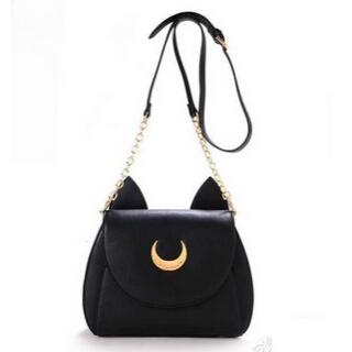 2015 Summer Limited Sailor Moon Bag Ladies Handbag Black White Cat Luna Moon Women Messenger Crossbody Bag YA80-67(China (Mainland))
