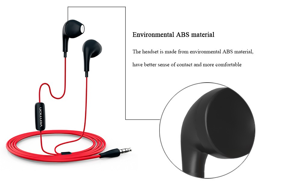 Vention VAE-T03 3.5mm Aux Audio  Dolphin Earphone  Headset For XiaoMi Samsung iPhone MP3 MP4 With Remote And MIC