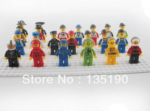 Minifigure Different Small Dolls 2 Figures Building Blocks Sets Educational Jigsaw Construction Bricks Toys Children - Dina Toy INC Store store
