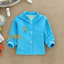 Boys Girls Autumn children's clothing outerwear small 100% cotton baby outerwear hot-selling children outerwear(China (Mainland))