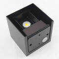 Waterproof Outdoor Wall Light Up and Down Lights Round LED COB 6W 90 260V Aluminum Black