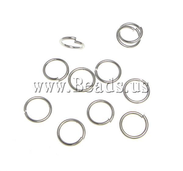 Free shipping!!!Brass Closed Jump Ring,Vintage, platinum color plated, nickel, lead & cadmium free, 7x7x0.80mm, 11111PC/KG