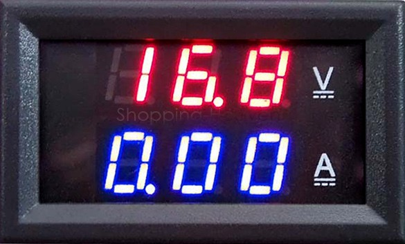 Red Blue LED DC 0-100V 10A Dual Voltage Display Meter Digital Voltmeter Ammeter Panel Amp Volt Gauge 25(China (Mainland))