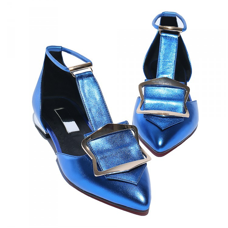 2016 Europe and America street women shoes T-buckle prong  square buckle high-grade leather sandals <br><br>Aliexpress