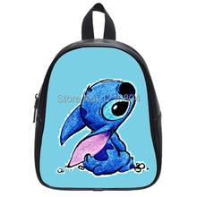 Lilo and Stitch Ohana Quote  Printed Schoolbag for kindergarten Kids-Leather Children Book Bag-Unique Baby Shoulders Satchel(China (Mainland))