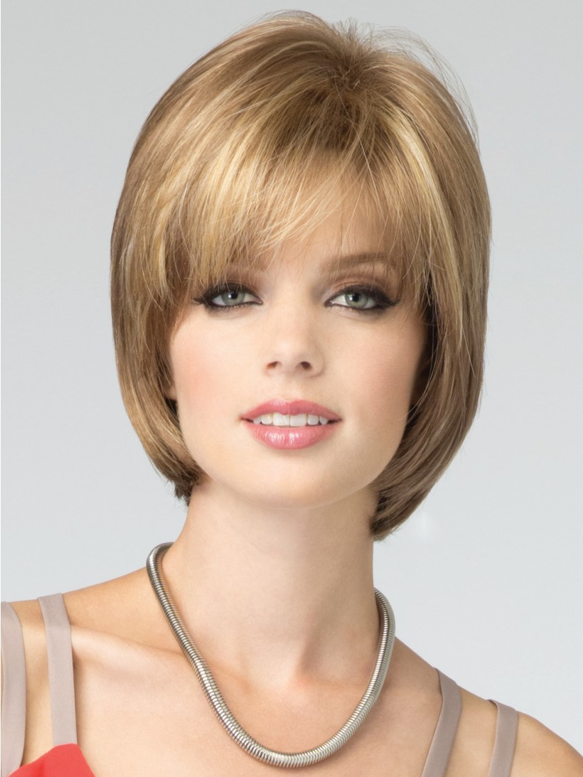 Гаджет  Ombre Short bob wig with bangs haircuts Synthetic african american wigs for women straight hair styles blonde wig Fashion SW0015 None Волосы и аксессуары