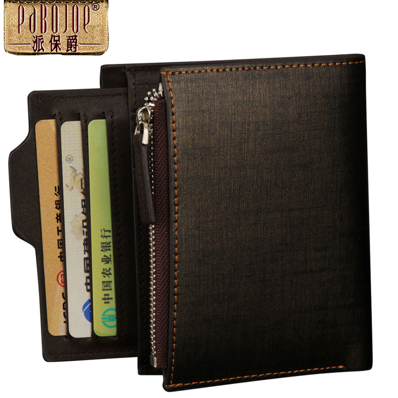 Promotion 2015 Brand New Mens Genuine Leather Card Wallet 9 Slots Cash Card Holder Top Quality