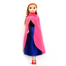 IN STOCK!2015 Fashion Princess Elsa Anna Doll Snow Queen Children Kids Toys Birthday Christmas Gifts For Girl Sharon Dolls DD001(China (Mainland))