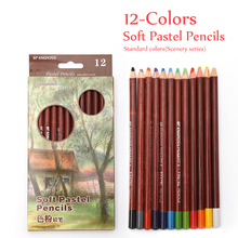 Buy 12 Non-toxic Professional Soft Pastel Pencils Drawing Sketches Colored Pencils Drawing School Lapices De Colores Stationery for $8.62 in AliExpress store