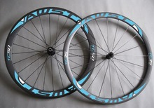 Carbon wheels (38+50mm tubular Clincher ) road bike wheelset ,TT wheels /Triathlon wheels/free brake pads and QR