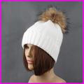 winter natural fur Hats pom poms beanie caps women cashmere wool soft warm beanies gorras hat