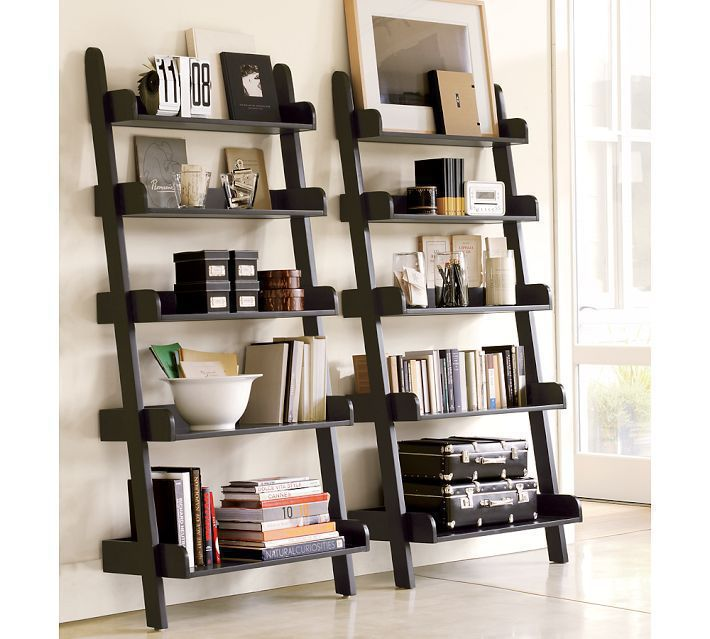 Storage Shelf Bookcase Shelf Storage Rack Layer White Wooden Wall Shelf Wooden Ladder Living