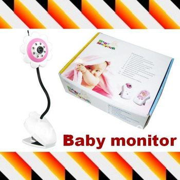 Promoting!! 2.4ghz digital wireless baby monitor ir night vision Flower design baby care products for baby home security