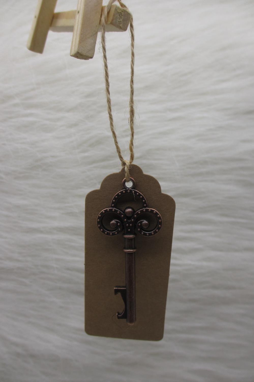 100pcslot Wedding Favor Wedding Tags Antique Copper Skeleton Key