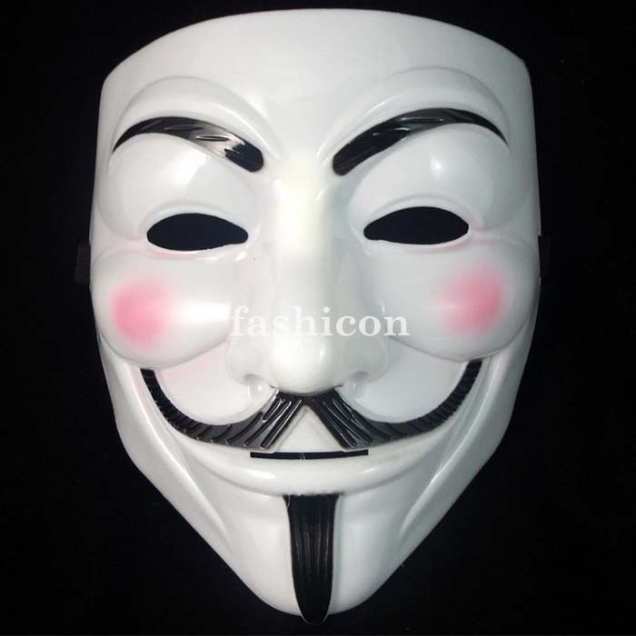 V For Vendetta Anonymous Guy Fawkes The Mask Halloween Cosplay Masks 5pcs /slot New Year Hair Accessories High Quality(China (Mainland))