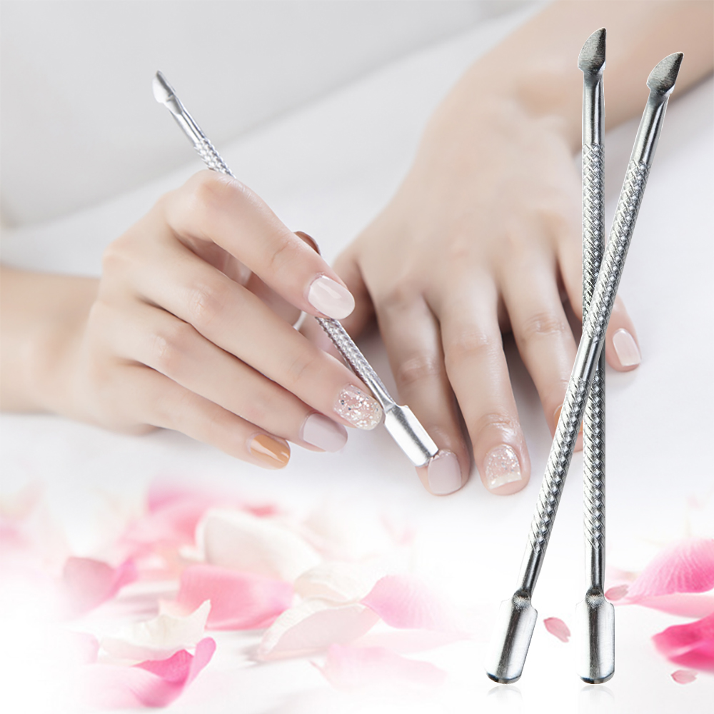 1 PCs Professional Cuticle Remover Spoon Remover Double Sided Steel Push Nail Cleaner Cuticle Remover Nail Art Tools 1475218(China (Mainland))