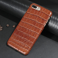 Luxury Real Premium Cow Leather Case For iPhone 7 6 6s Plus Cell Phone 3D Crocodile