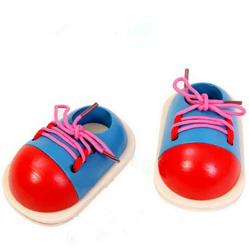 Toys for children tie shoes / practice wear rope laces / educational early childhood Montessori teaching aids nursery gift(China (Mainland))