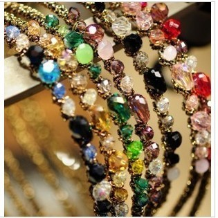 TS068 colorful Noble crystal Headband Hairpin jewelry crystal shop hair jewellry!