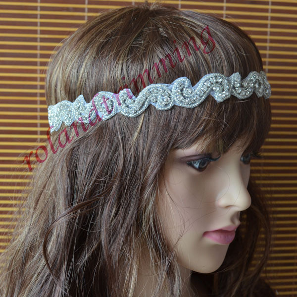 free shipping 2015 new bridal rhinestone crystal hair chain band flower headband ray328(China (Mainland))